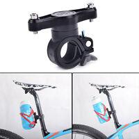 Handlebar mount adapter bracket seat 360 degree for bike water bottle holder QP