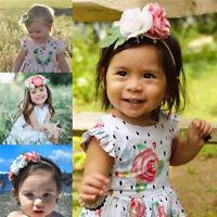 3Pcs/Set Newborn Baby Girls Headband Hair Band Ribbon Bow Turban Head Wrap Soft