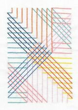 DMC Geometry Rules Parallel Lines Printed Embroidery Kit