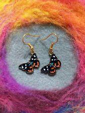 Beautiful Boho Butterfly Earrings Black Red