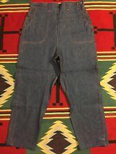 """Vtg NOS 50's Super High Waist Side Zip Tapered Leg Jean's 33"""" Waist USA!!! 1655"""