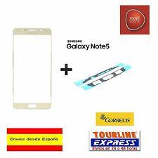 CRISTAL EXTERIOR PANTALLA FRONTAL + ADHESIVO SAMSUNG GALAXY NOTE 5 N920 DORADO