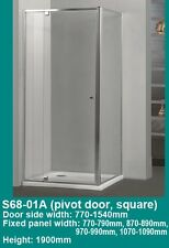 SQUARE PIVOTING / OPEN DOOR FRAMED SHOWER SCREEN CUBICAL 900x900