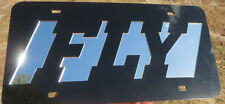 Custom Black Fly Mirrored License Plate Laser Cut acrylic inlaid