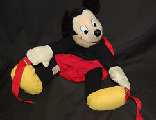 Mickey Mouse Back Pack Vintage Mickey's Globe Pals Bag Adjustable Straps 15""