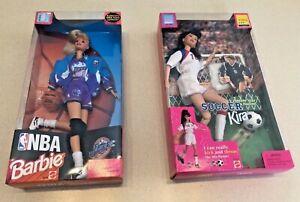 Vintage 1998 Soccer Kira & NBA Barbie (Utah Jazz) - NIB & Unopened!