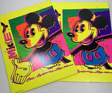 2 Vintage Mead Disney Pocket Folders Portfolio Electric One Awesome Mouse Disney