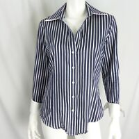 Brooks Brothers Women's Sz 8 Striped Shirt Long Sleeve 1818 Fitted French Cuff