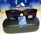Black  Arctic Blue PC Sunglasses with Hard Case AntiGlare Bluetech Lenses UV400
