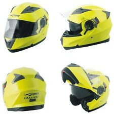 Motorbike Flip Up Sun Visor Helmet Motorcycle Jet Modular yellow fluo