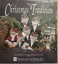 Christmas Tradition 1919 Gift Ornaments Cross Stitch Cone Shaped Ornaments