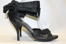 Ladies Black New Look Bow Heel Detail Shoes Size 41 Uk 8 Stilleto Party Heels