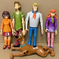 LOT Scooby Doo Mystery Solving Crew Action Figure Set FRED SHAGGY DAPHNE VELMA