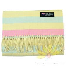 Men Women unisex 100% CASHMERE Scarf Horizontal Stripe Plaid Wool SCOTLAND