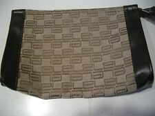 VINTAGE ESTEE LAUDER SIGNATURE LARGE MAKE UP COSMETIC CASE POUCH LEATHER LINING