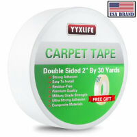 YYXLIFE Double Sided Carpet Tape for Area Rugs Carpet Adhesive Rug Gripper 30YD