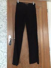 Joseph designer suede trousers dark brown 100 % leather size S
