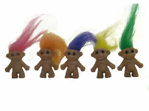 Large Pack Of 100 x Lucky Retro Trolls Figures, Ideal Party Bag Fillers Favours