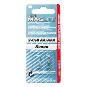 Mini Maglite AA + AAA 2 cell - genuine sealed - replacement bulbs - pack options