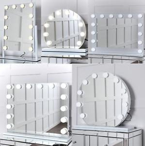NICHES Hollywood Make-up Vanity LED Illuminated Cosmetic Light Up Mirror UK.