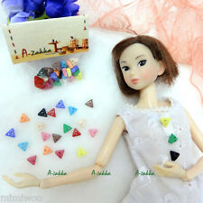 Bjd Doll Dress Making Diy Material Craft - 6.5mm Triangle Button Mix Color 22pcs
