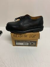 "HS Track ""Big Hole"" Split Toe Derby Mens Size 8 W Black Oxford Shoes NEW ITALY"
