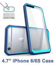 "SUPCASE For iPhone 6/6S 4.7"" Unicorn Beetle Hybrid Protective Bumper Case Blue"