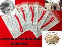 *LOT OF 5 BLESSED RED STRINGS KABBALAH EXCELLENT PROTECTION FROM THE EVIL*