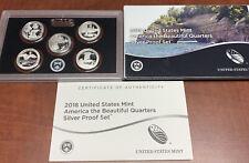 2018 UNITED STATES Mint Silver ATB QUARTERS PROOF SET w/ Box + COA US S
