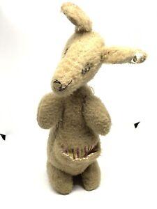 """Vintage Plush Well Loved Kangaroo Stuffed Animal 10"""""""
