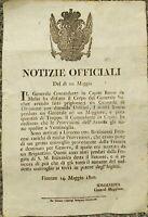 1800 12) AUSTRIACI A FIRENZE ECCEZIONALE BOLLETTINO DI GUERRA SU CORSARI INGLESI