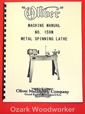 OLIVER No. 195M Metal Spinning Lathe Owner's and Parts Manual 1077