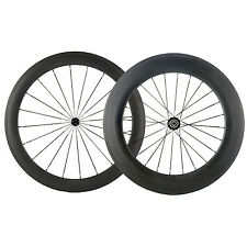 700C Wheels Clincher Front 60mm Rear 88mm Carbon Wheelset 60/88 Back Bicycle OEM