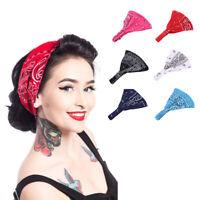 Women Ladies Turban Cap Bandana Elastic Floral Wrap Hat Hair Accessories