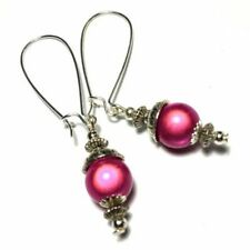 Handmade Resin Silver Plated Costume Earrings