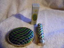Vintage Avon 1970-71 Empress Compact Powder Pack & Lipstick Set Emberglow