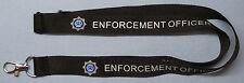 SIA Enforcement officer black neck lanyard with logo