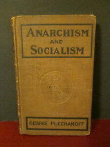 Vintage Communist Book Anarchism and Socialism George Plechanoff 1918