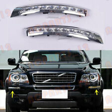 L+R LED White+Yellow DRL Daytime Running Lights For Volvo XC90 2007-2014