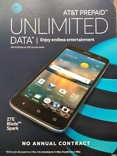 "New Sealed ZTE Blade Spark Z971 AT&T No Contract 16GB 5.5"" 13MP Fingerprint"