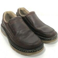 DR. MARTENS Asset Shoes Pitstop Industrial Leather Slip On Loafers Mens 7, L 8