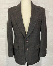 ADAM ROW Blazer Men's 40R Brown Black Tweed 100% Pure Wool