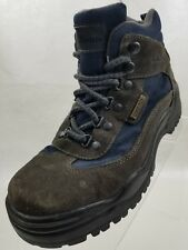 L L Bean Ankle Boots Gore Tex Waterproof Rugged Hiking Womens Gray Navy Size 7