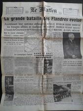 Le Matin Paris 28. Mai 1940  - Westfeldzug kurz vor der Kapitulation