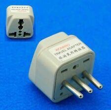 UK AUS USA to Italy Grounded Universal Travel Adaptor AC Power Plug Converter EU