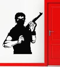 Wall Stickers Vinyl Decal Terrorist Mafia Killer Warrior Weapons Gun (ig745)