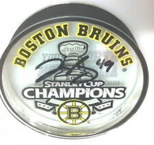 Rich Peverley Boston Bruins Stanley Cup champions signed acrylic puck
