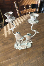 Dancing Metal Frog Candle Holders