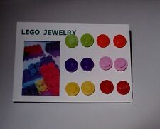 6 PAIR OF LEGO EARRINGS IN GIFT BOX