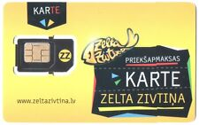 LATVIA - TELE 2 - PREPAID PHONE GSM  SIM Card. NEW Unactivated and un-punched